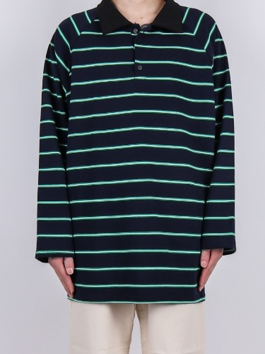 NV Striped PK Long Sleeve Tee (3color)