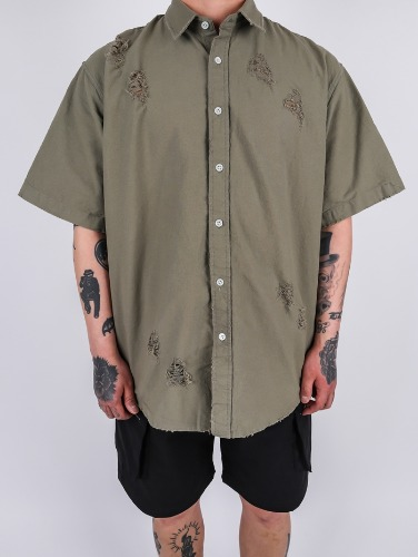 DR Grunge Damage Short Shirt (3color)