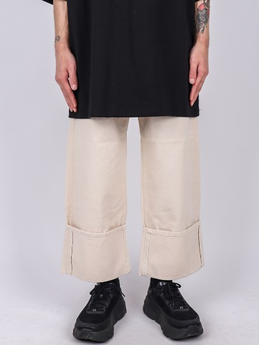PM 73 Roll Up Jacquard Pants (2color)