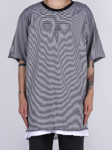 SG Striped Grunge Short Sleeve Tee (2color)