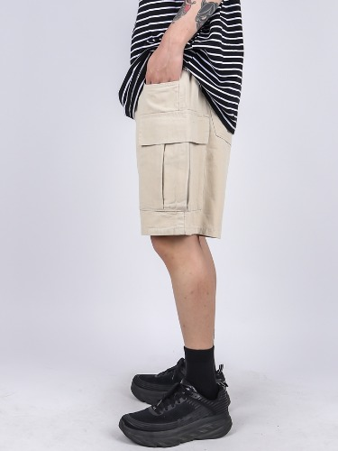 PM 59 Solid Cargo Shorts Pants (3color)