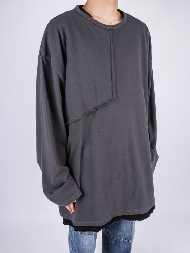 SN Square Washing Long Sleeve Tee (4color)