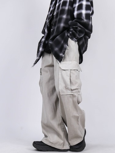 PG Washing Wide Cargo Pants (3color)