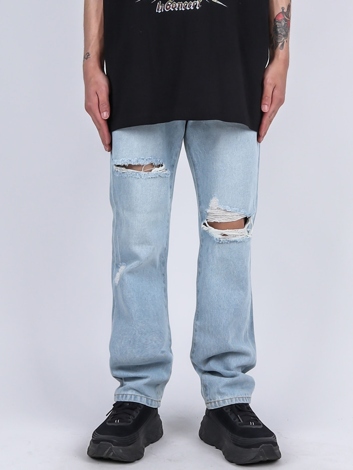 DR 27 Damage Light Jeans