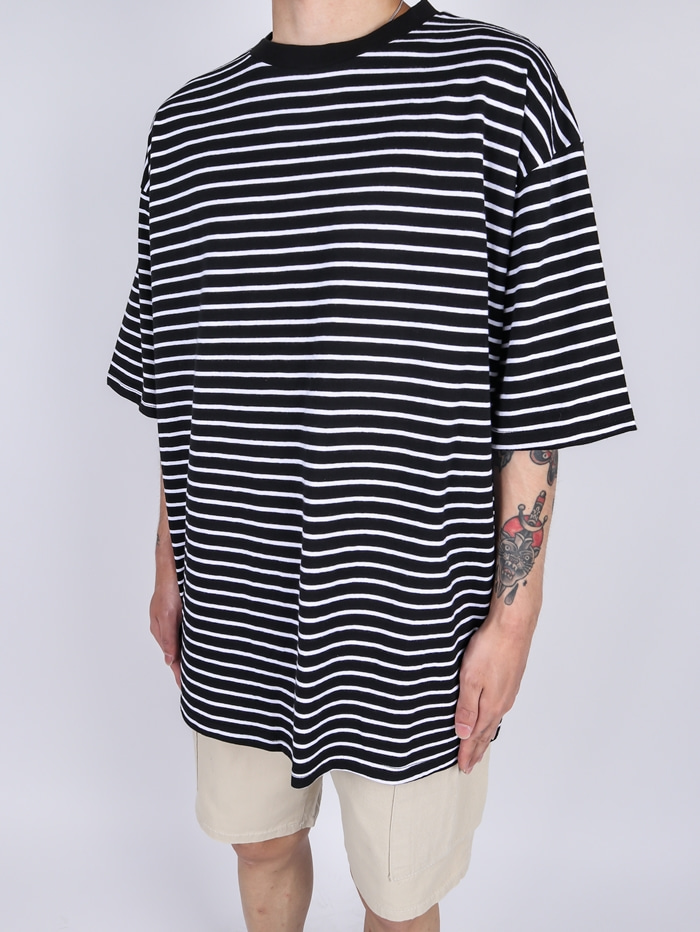 EV 11 Striped Short-Sleeved Tee (2color)