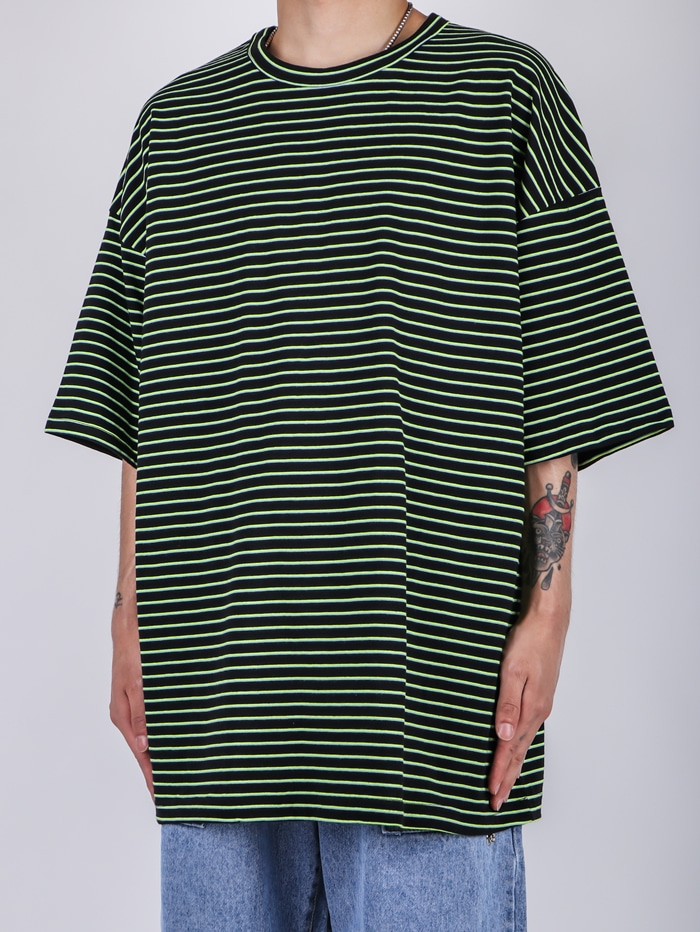 NU Many Striped Short Sleeve (3color)