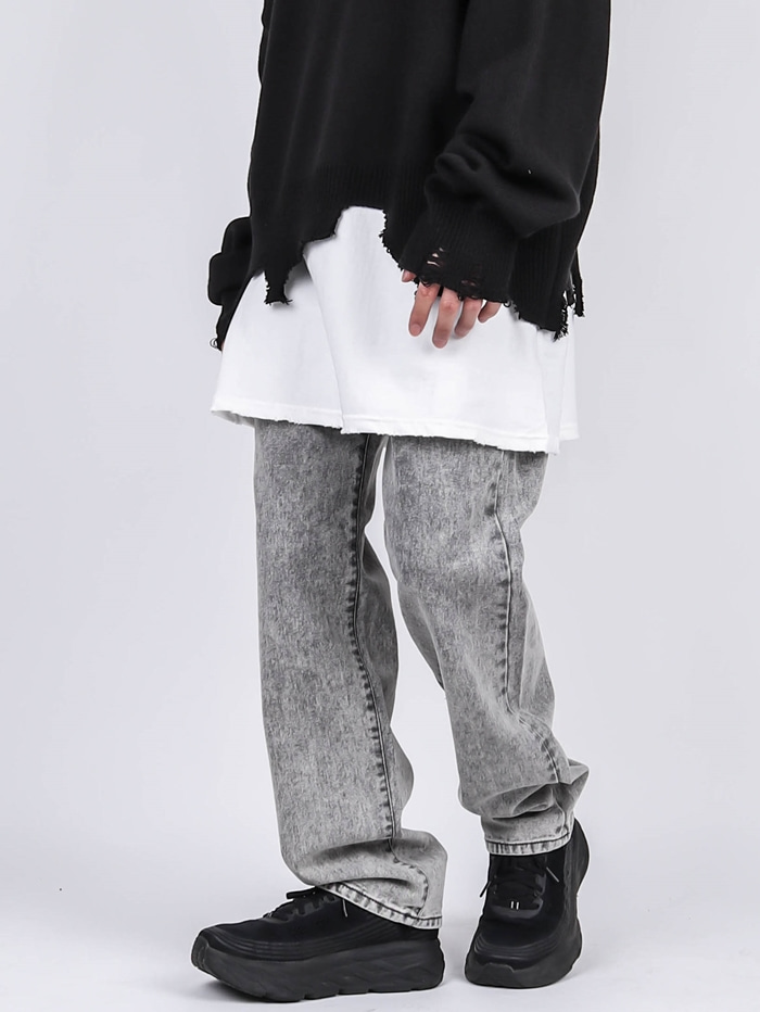 LY Gray Snow Jeans