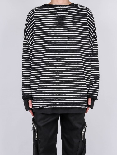 SG Drop Stripe Knit (2color)