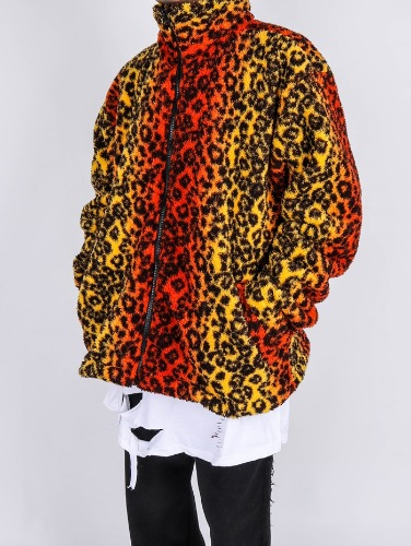 SG Leopard Fleece Zip-up(2color)