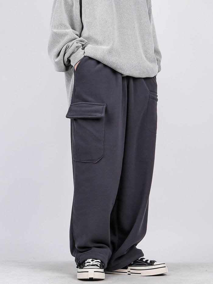 SC Fleece Unbalance Cargo Pants (2color)