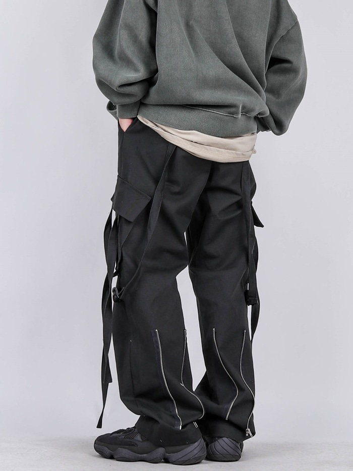 UB Back Zipper Rope Pants (2color)