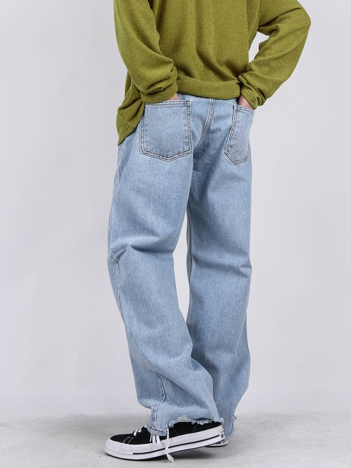 PM 77 Unbalanced Cutting Jeans (2color)