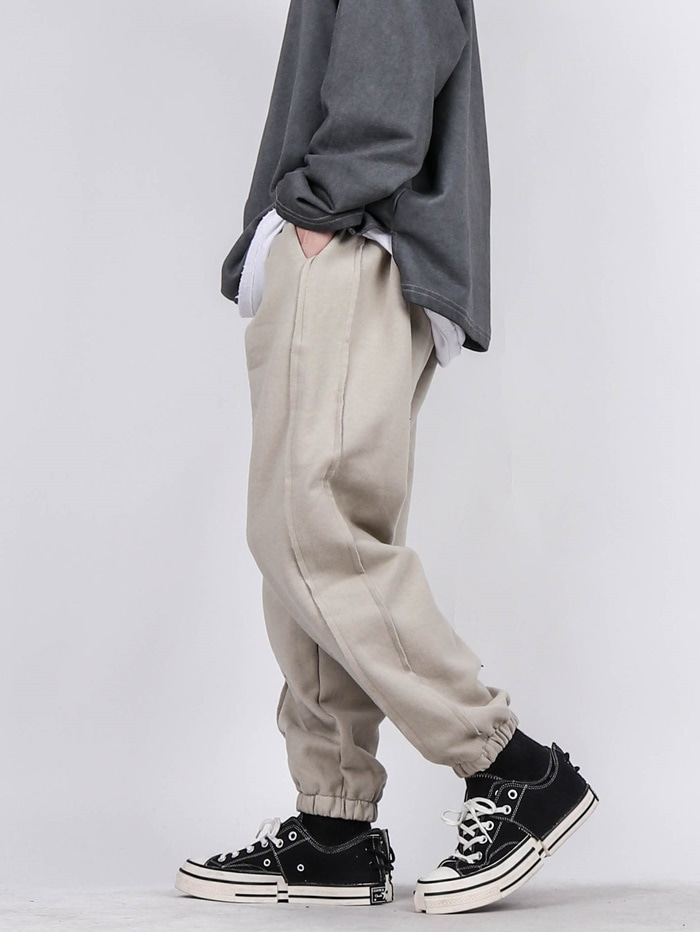 PE Cut Reverse Jogger Pants (3color)