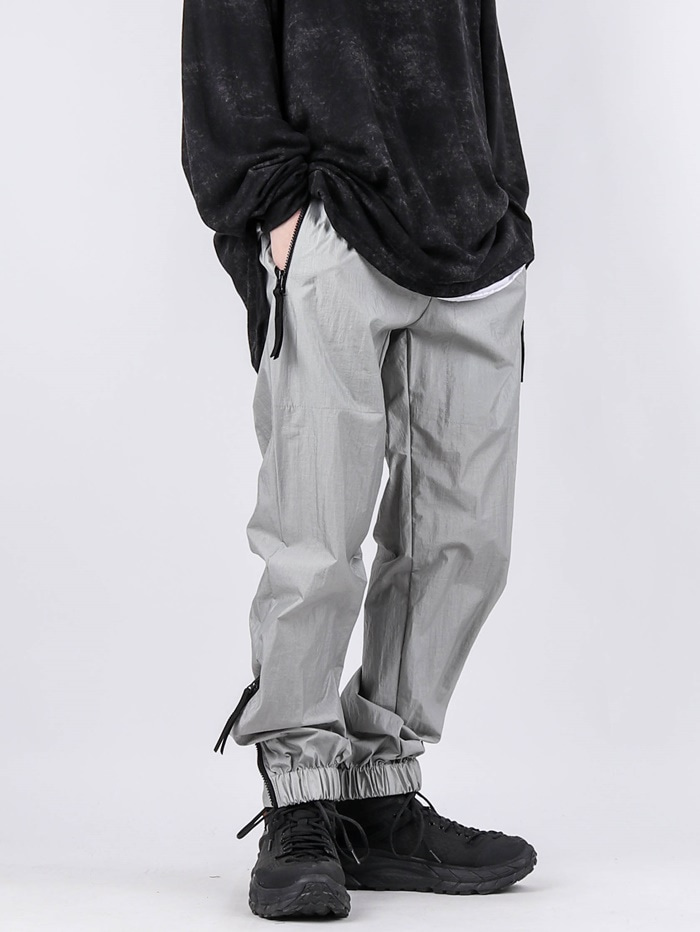 MG Nylon Zipper Setup Pants (2color)