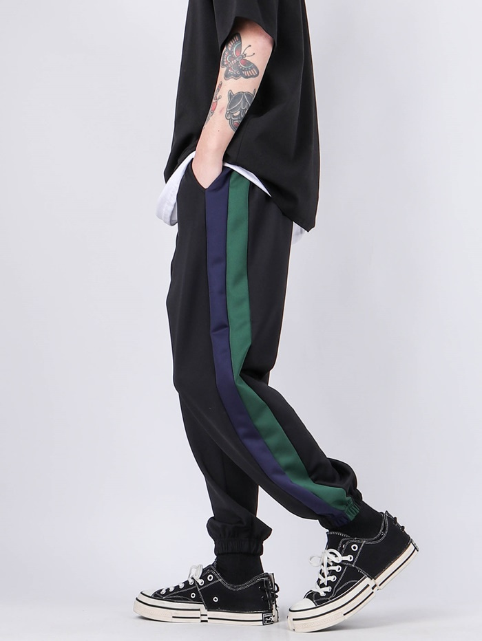 NV Two-Tone Color Line Jogger Pants (2color)