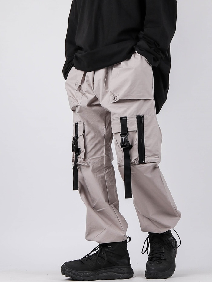 GE Strap Buckle Pants (2color)
