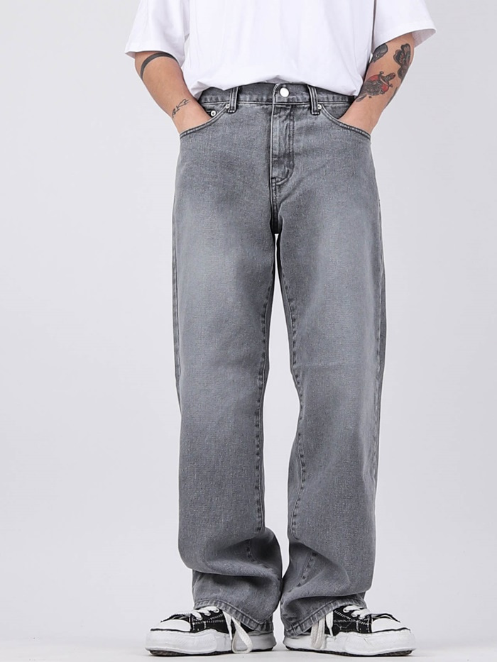 DR 01 Wide Gray Jeans