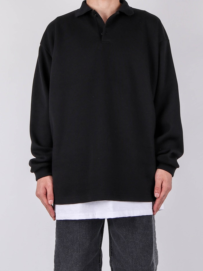 WA Studio Collar Long Sleeve Tee (2color)