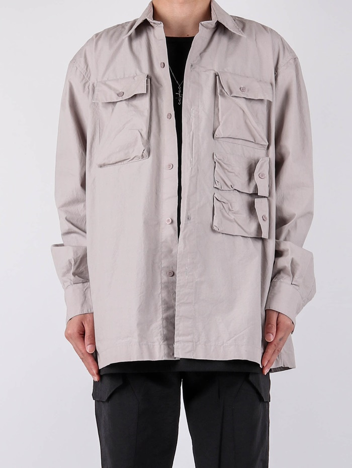 PG Multi-Pocket Shirt Jacket (3color)