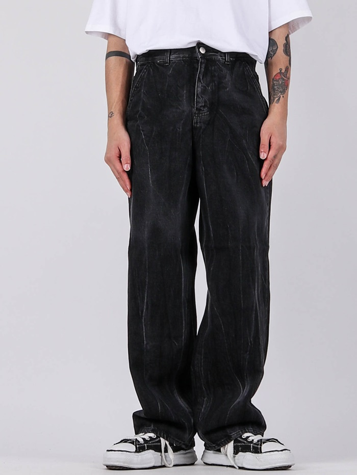 NT Wrinkle Washing Black Jeans