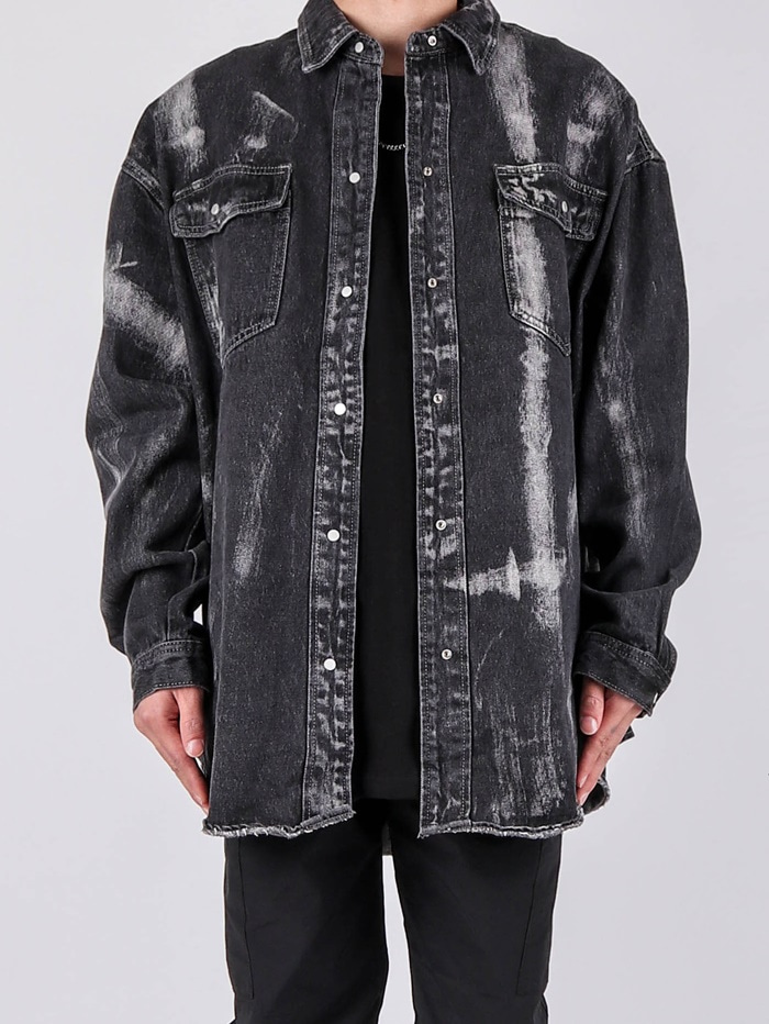 SY Painting Denim Shirt (2color)