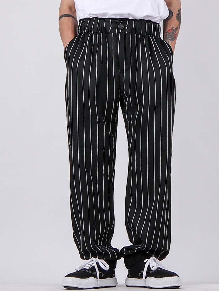 DV Striped Velvet Jogger Pants (2color)