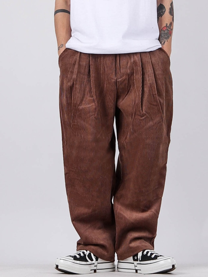HD Corduroy Pleated Pants (4color)