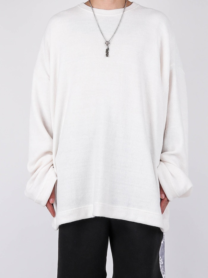 MG Knit Over Long Sleeve Tee (2color)