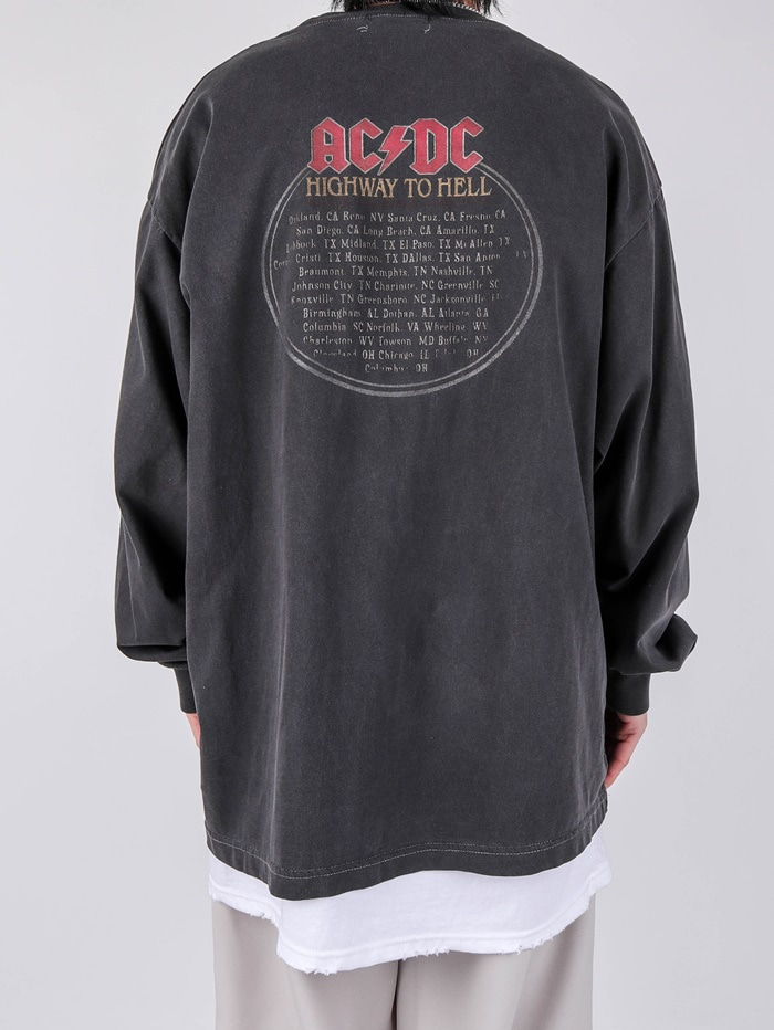 AC ACDC Highway Dying Long Sleeve Tee (2color)