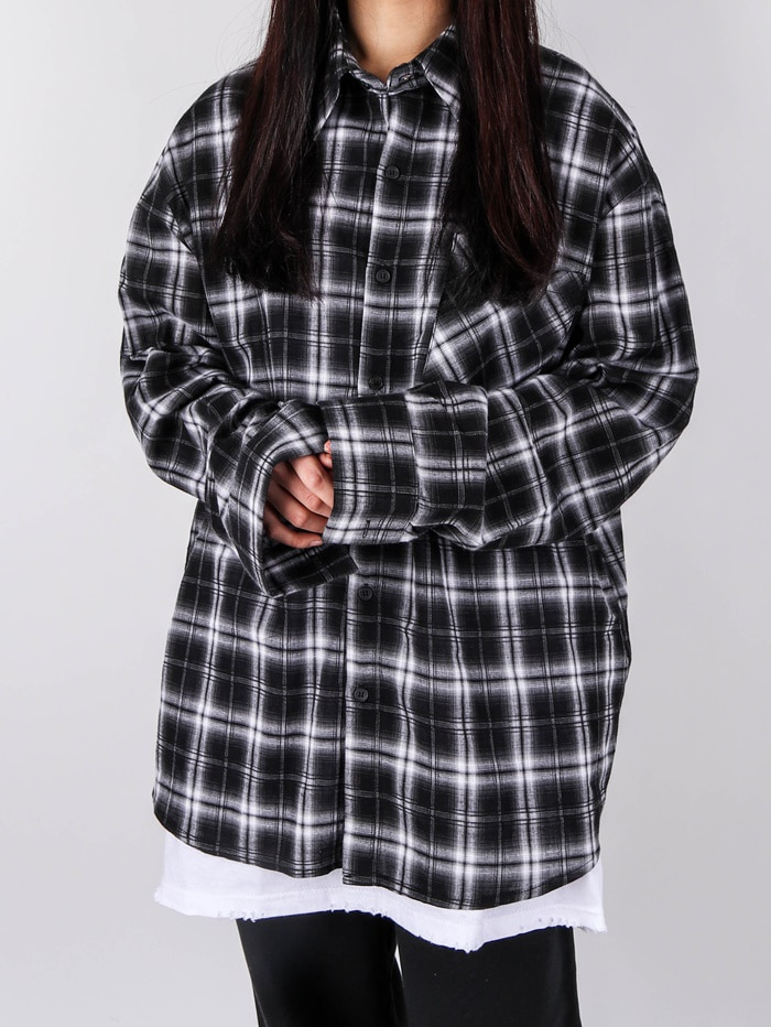 NV Pure Linen Check Shirt (2color)