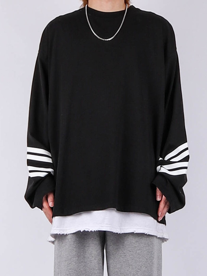 VT 21SS Diagonal Stripe Long-Sleeved Tee (4color)