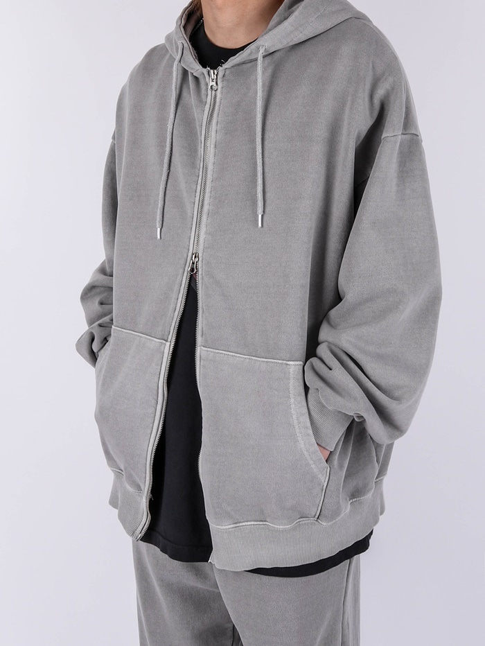 PG Pigment Hood Zip Up (3color)