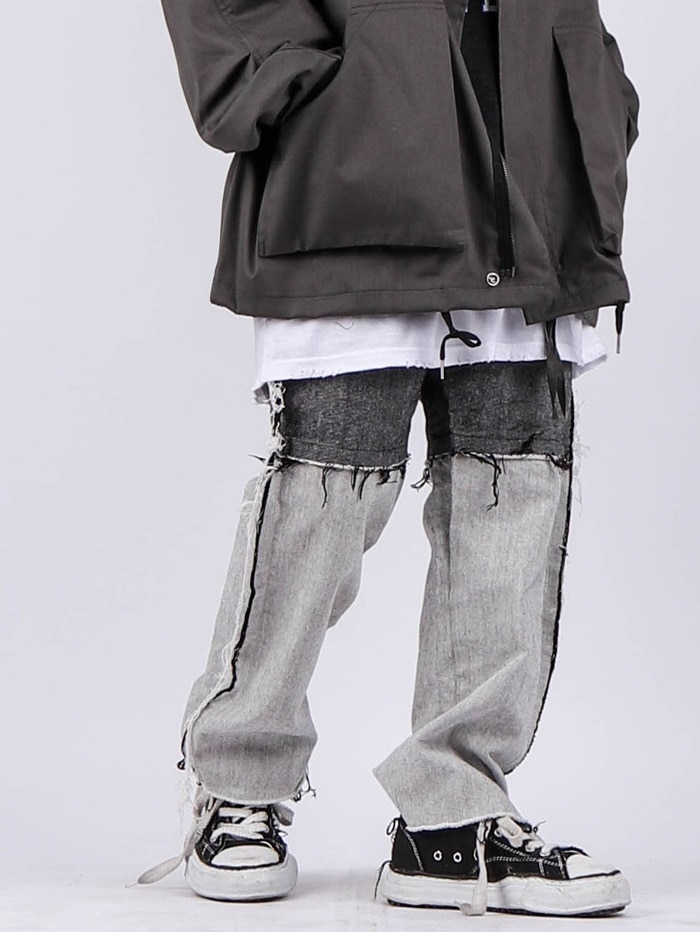 OS Reverse Denim Banding Pants (3color)