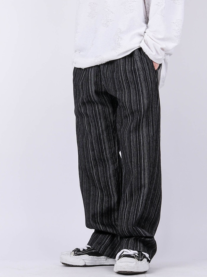 SG Wide Vintage Striped Jeans (2color)