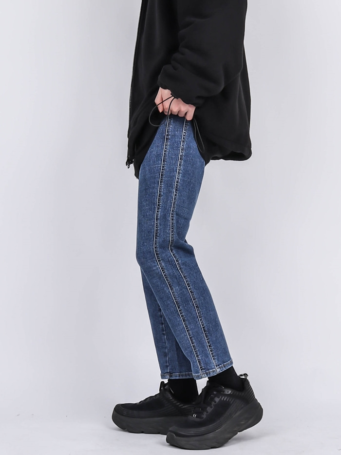 PM 74 Two Line Crop Jeans (2color)
