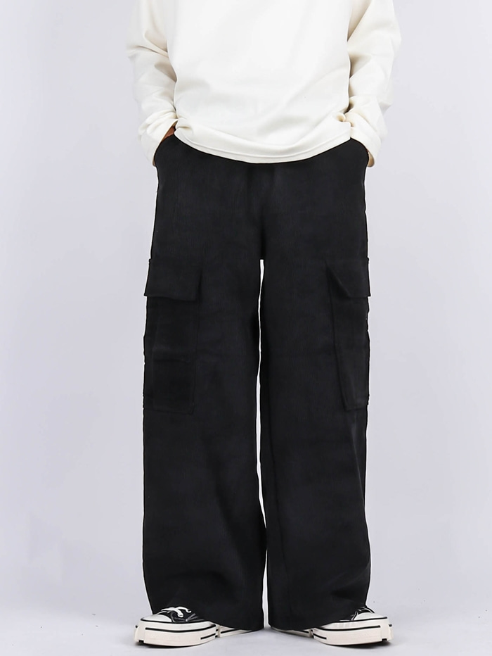 PG Corduroy Wide Cargo Pants (3color)