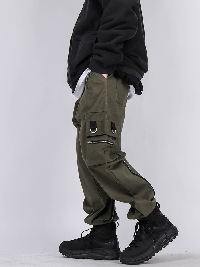 GE Back Zip Cargo Pants (2color)