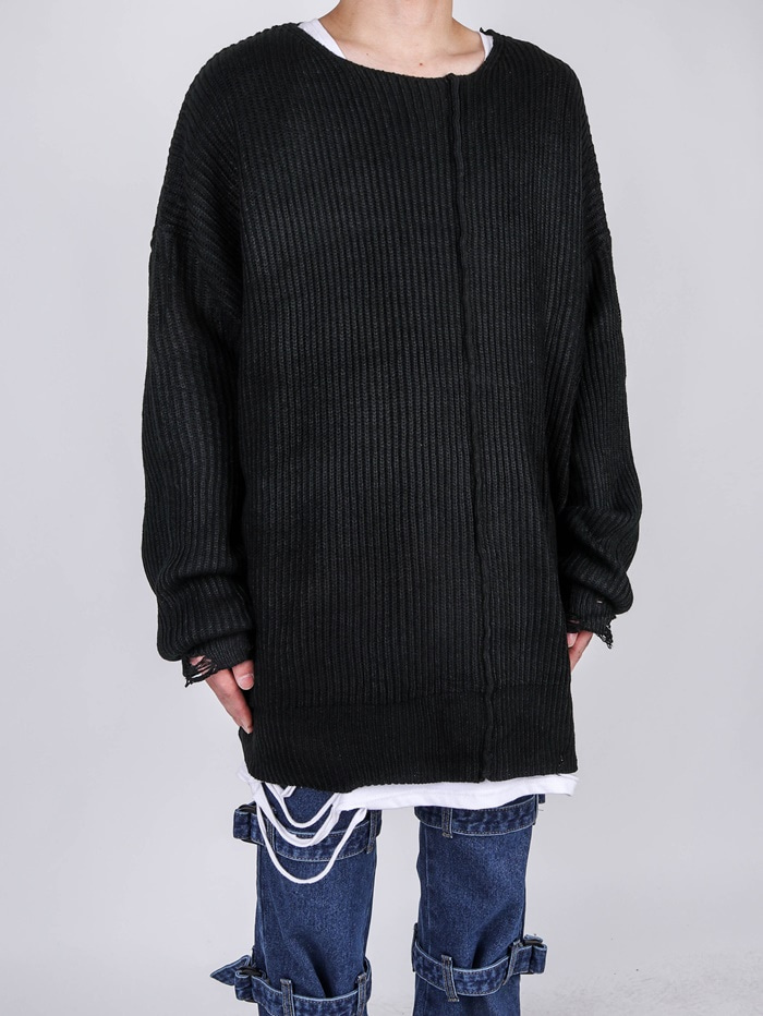 DS Grunge Diagonal Knit (2color)