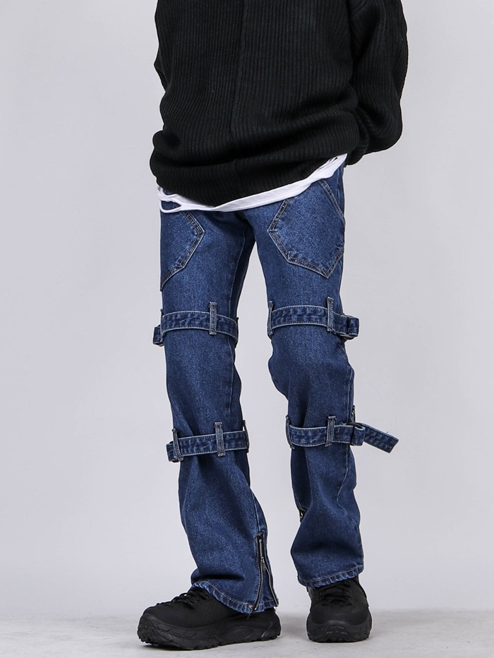 UB Bone Buckle Bootcut Jeans (2color)