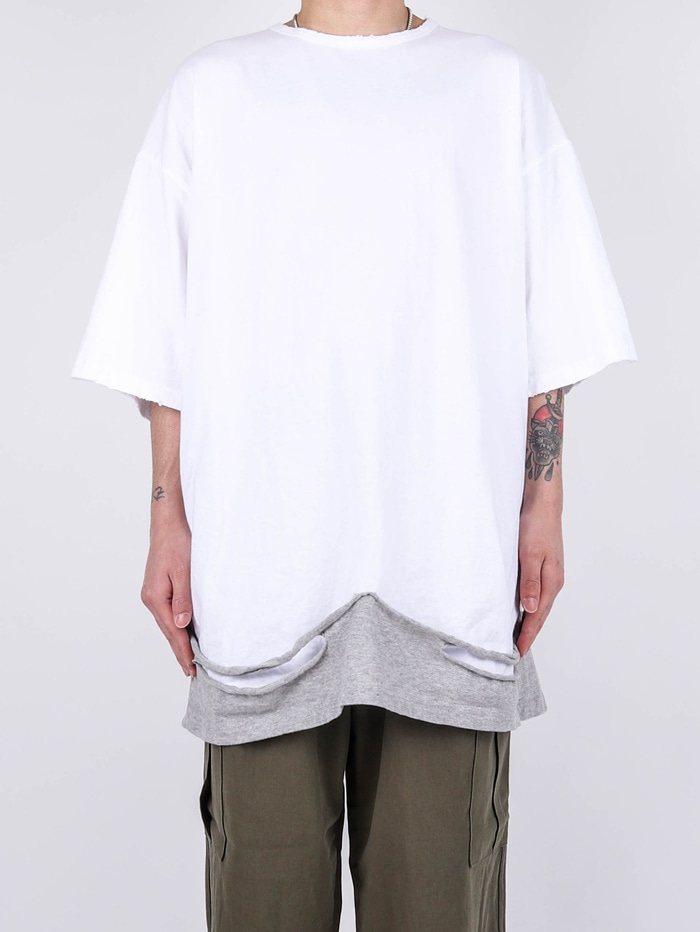DV Layered Patch Short Sleeve Tee (2color)